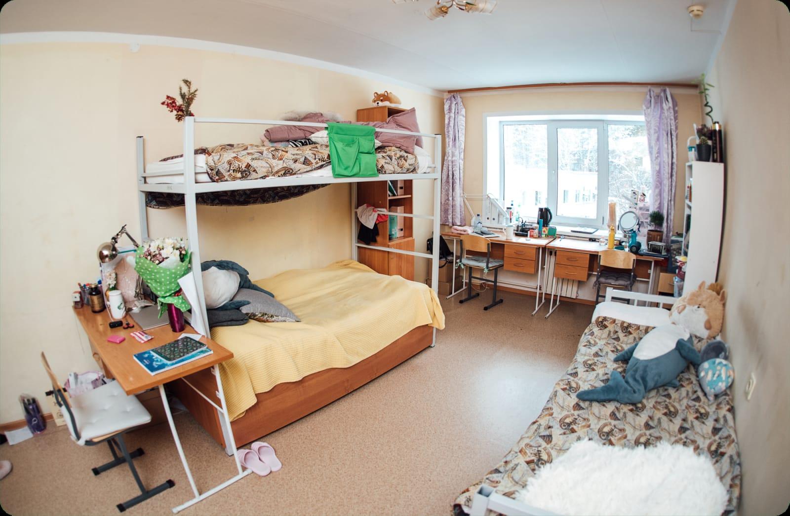 新西伯利亚国立大学学生寝室内部